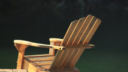 Wooden Chair On A Floating Pier stock footage