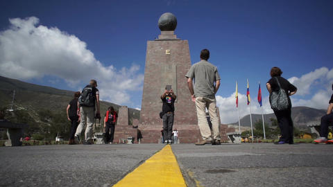 Mitad Del Mundo Monument Low Angle stock footage