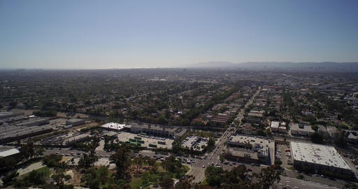 Panoramic aerial view of city of Los Angeles and West Hollywood - California, US Footage