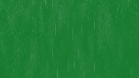 Rain On Green Screen stock footage