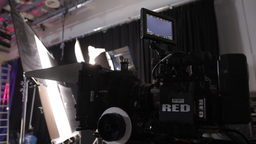Professional Movie Camera On The Set Of The Film stock footage