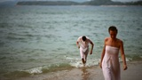 Couple In The Ocean stock footage