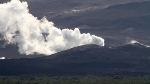 Iceland Active Volcano Mountain stock footage