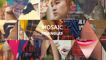 Dynamic Mosaic Triangle stock footage