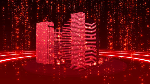 SHA Red City Cyber BG Image stock footage