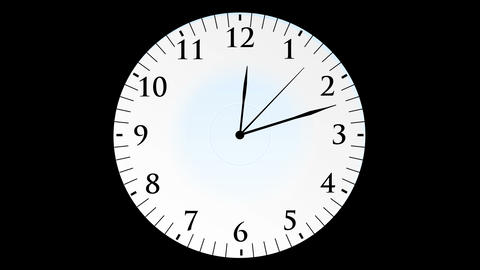 Animation, Clock Time With Seconds, Black Background, 4K stock footage
