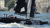 ZouLou Compete In The Extreme Sailing Series stock footage