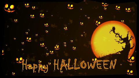 Halloween Greeting stock footage