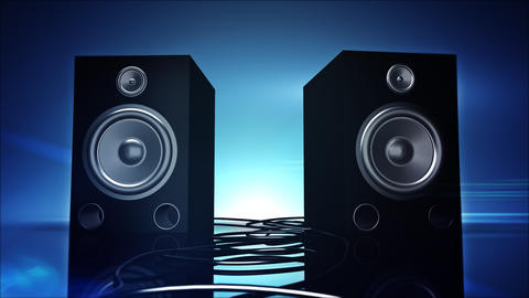 Thumping Bass Speakers stock footage