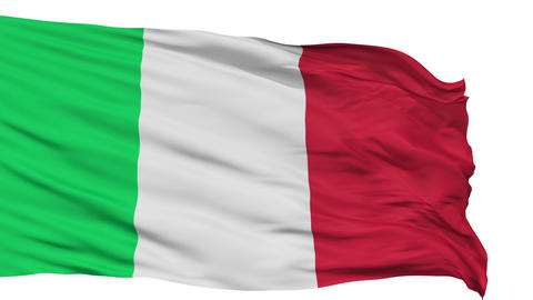 Isolated Waving National Flag Of Italy stock footage