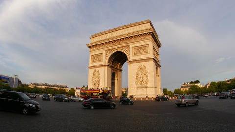 PARIS - FRANCE, AUGUST 2015: Champs Elysees, Timelapse, Zoom In stock footage