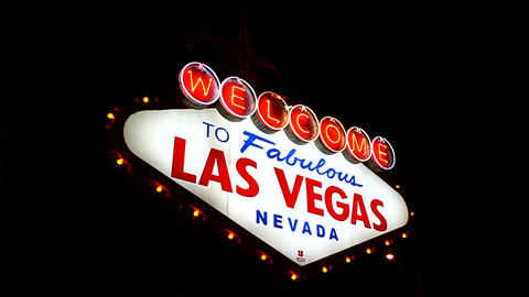 Welcome To Fabulous Las Vegas stock footage