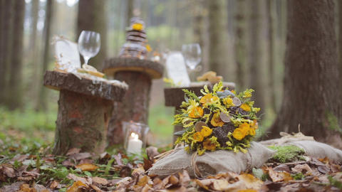 Eco forest wedding bridal bouquet Footage