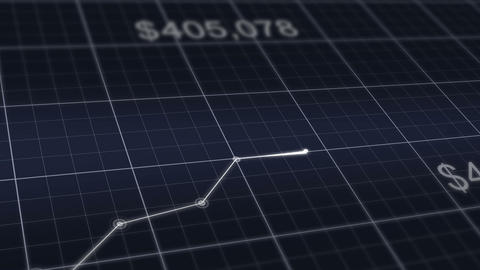 Financial Graph Going Up Success Bussiness stock footage
