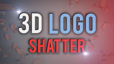3D Logo Reveal Shatter And Glitch stock footage