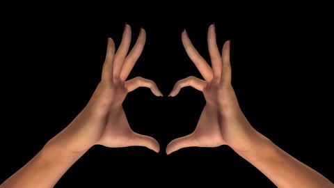 Woman Hands - Heart Sign stock footage