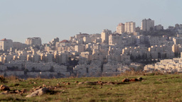 North Jerusalem Arab Neighborhood stock footage
