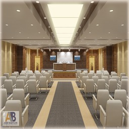 Conference Hall 018 stock footage