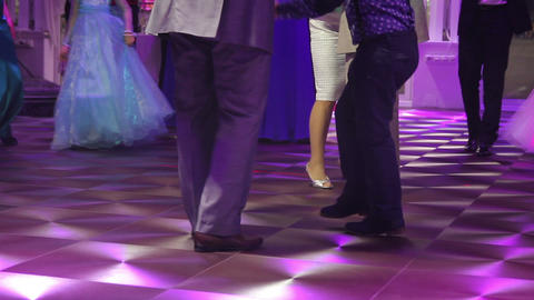 Dancing Peoples At The Wedding Party Dance Floor Footage