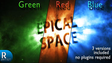 Epical Space (3 Version Included) stock footage