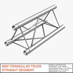 Mini Triangular Truss Straight Segment 111 stock footage