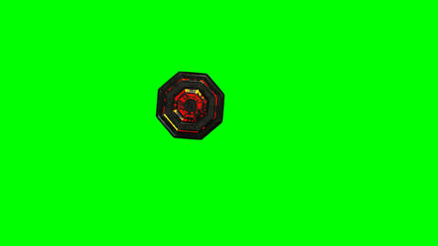 4K UFO Top View Greenscreen 1 stock footage