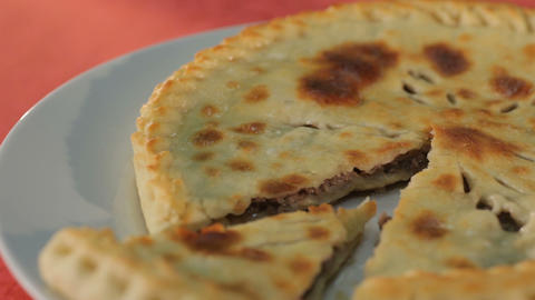 Taking A Piece Of The Ossetian Pie stock footage