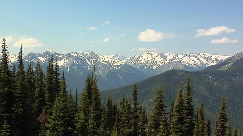 Olympic Mountain Range View From Deer Park Of The Olympic National Park, Washing stock footage