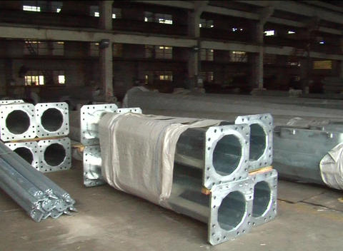 Steel In Warehouse Near Shanghai China stock footage