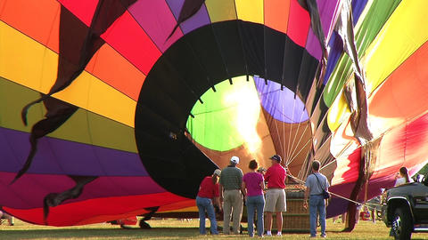 Hot Air Balloon Inflation stock footage