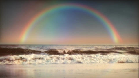 1032 Rainbow Surf And Ocean stock footage