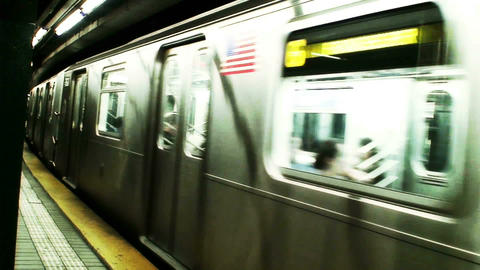 1016 New York Subway stock footage