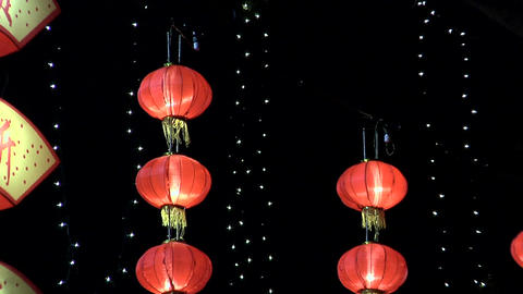 Chinese New Year Decoration, Singapore Footage