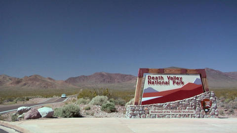 The Exterior Of The Beatty Museum Late Afternoon, Nevada stock footage