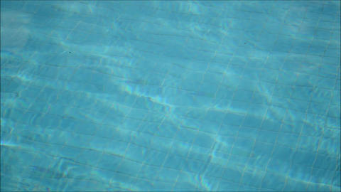 Water In A Swimming Pool stock footage