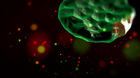 Infection Of Blood Cells By Virus, Close Up stock footage