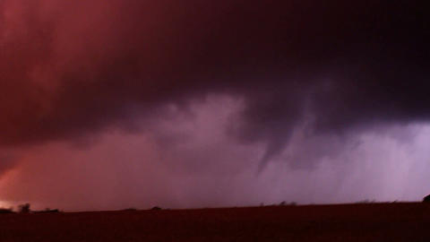 Tornado Storm Chasing Illinois stock footage
