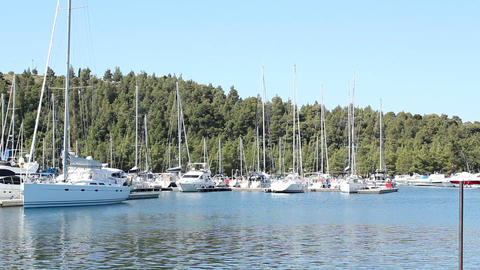 Bay With Yachts stock footage
