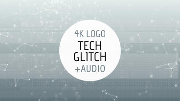 Tech Glitch Logo Reveal stock footage