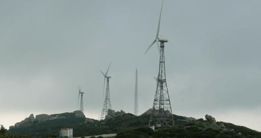 4K, Wind Energy Plantation In Spain stock footage