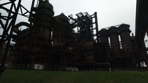 Abandoned Steel Factory stock footage
