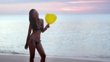 Seductive Naughty Girl At Beach stock footage