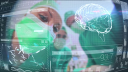 Doctors Using Latest Technology stock footage