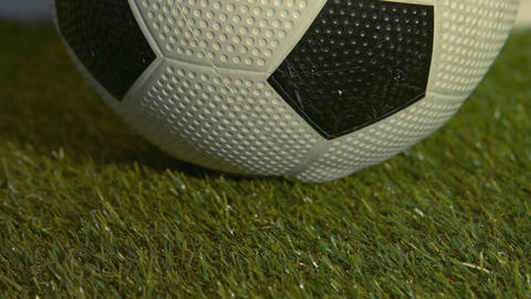 Close Up Of Soccer Ball stock footage