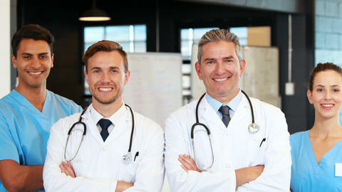 Medical Team Standing Together stock footage