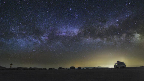 A Beautiful Night Sky Milky Way Shot Captured At Dantes View, Death Valley In Ne stock footage