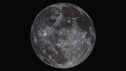 Simulation Of Orbiting Around The Moon; Created From A High Resolution Full Moon stock footage