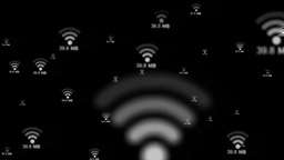 Floating Wifi Icon stock footage
