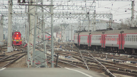 Central Railway Station With Trains stock footage
