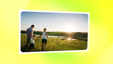 Slideshow Family Day stock footage